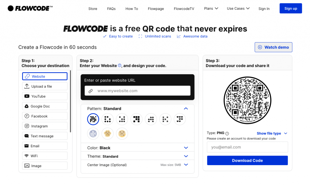 Flowcode - generator kodow QR