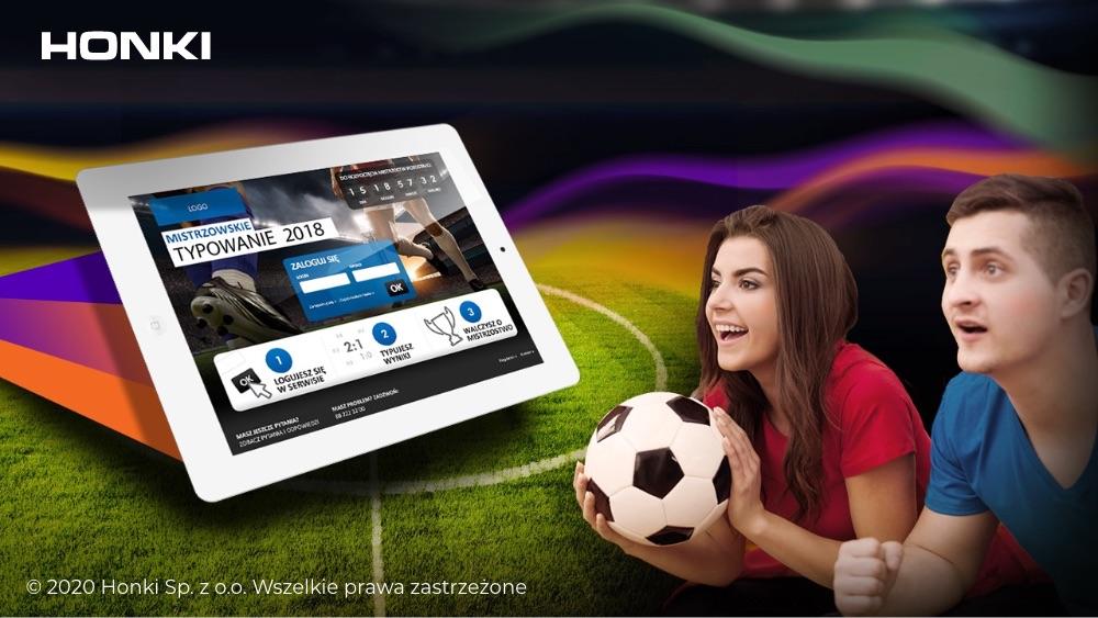 Reklama typowanie wyników meczow Honki Digital Agency